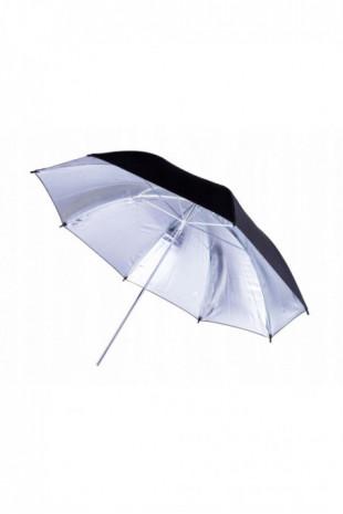 Parasolka czarna srebrna...