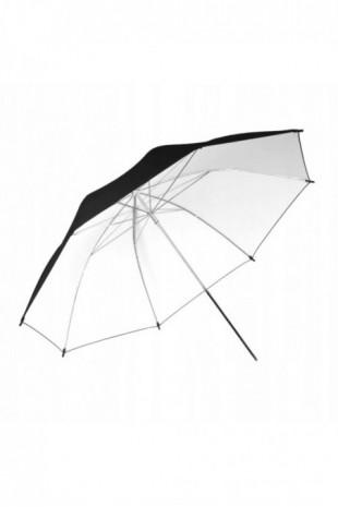 Biały czarny parasol...